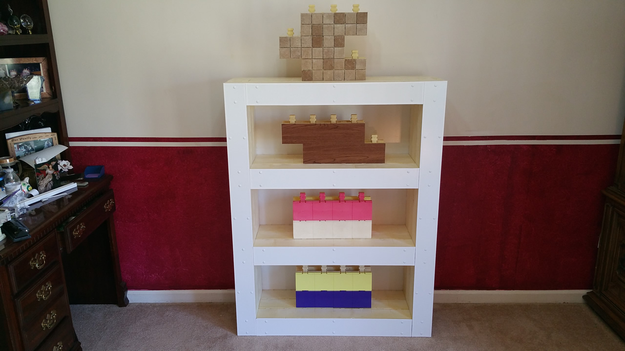 Homemade Bookcase Made From Interlocking Not Stacked