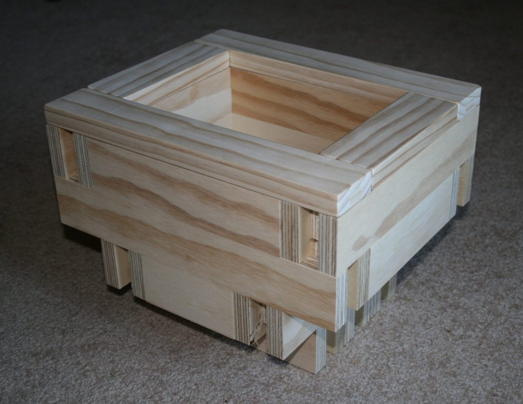 homemade wooden planter box