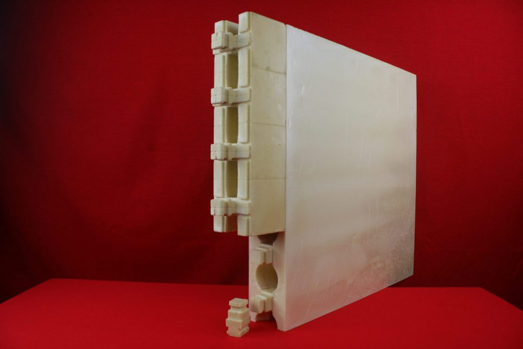 Zipblocks hybrid fully interlocking polyurethane foam for Foam block wall construction